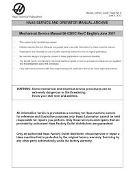 mechanical service manual 96 0283c rev c english june 2007