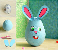 paper mache rabbit wobbling papier mache bunny easter crafts for kids easy peasy
