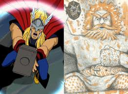who shall wield the hammer marvel s thor versus the thor of myth
