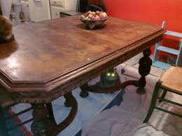 saucy vintage dining table need help iding period style wood