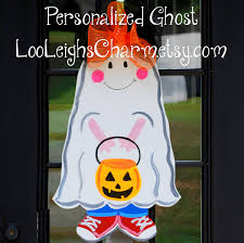 halloween door hanger halloween party ghost door sign