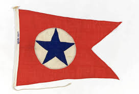 Blue White And Red Flags House Flag Blue Star Line Ltd National Maritime Museum