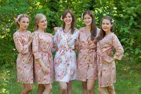 and bridesmaid robes gold floral posy robes for bridesmaids getting ready bridal