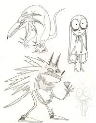 tim burton character sketches sketch coloring page