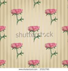 vector embroidery vintage embroidery peony sketch stock vector