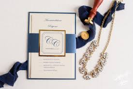 luxury wedding invitations colleen chris s luxury gold foil and navy wedding invitation