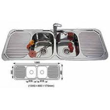 Euro Double Bowl Double Drainer Kitchen Sink Xmm Stainless - Kitchen sink double bowl double drainer