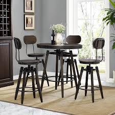 Adjustable Height Bar Table Williston Forge Bingaman Vintage Adjustable Height Bar Table