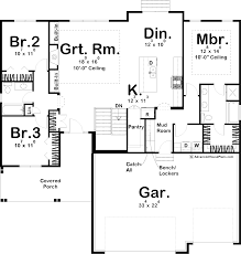 ranch plans 1 story modern cottage ranch plan brenna