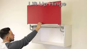 lift up cabinet door hardware lift up hinge youtube