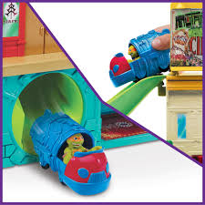 teenage mutant ninja turtles sewer lair playset with mikey and