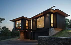 modern lake house opens towards the blue ridge mountains modern
