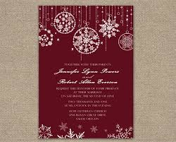online marriage invitation snowflake christmas online winter wedding invitations iwi274