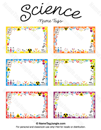 Family Feud Name Tag Template Free Printable Science Name Tags The Template Can Also Be Used