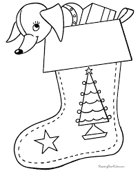 christmas stocking coloring pages printable christmas stocking coloring pages 003