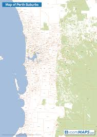 Australia Population Map Map Of Perth Suburbs U2013 Voommaps