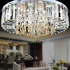 Crystal Flush Mount Ceiling Light Fixture by Flush Mount Ceiling Lights With 6 Light For Living Room