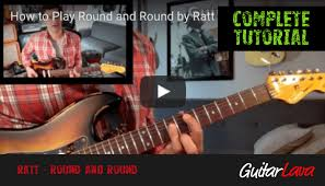 tutorial virtual guitar how to play round and round by ratt complete guitar lesson video