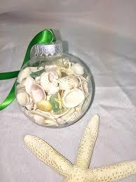 decor seashell and sea glass ornament ornament