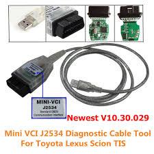 lexus v10 for sale mini vci j2534 diagnostic cable for toyota lexus scion tis