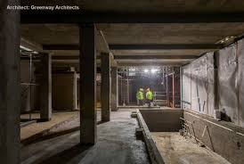 double level basement residential waterproofing project delta