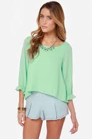 mint blouse pretty mint green top ruffle top mint blouse 37 00