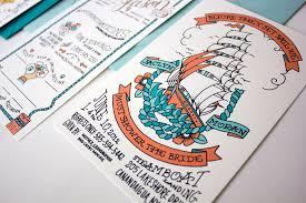 Wedding Invitations Nautical Theme - jaclyn jason u0027s illustrated nautical wedding invitations