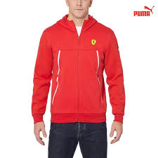 inexpensive puma ferrari zip up hoodie rosso corsa puma mens