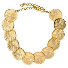 bib necklace images Satin gold coin bib necklace jpg