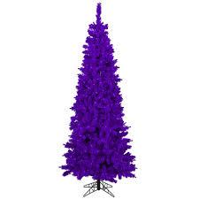 vickerman 4 5 purple flocked pine slim artificial tree