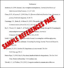 Reference Page On Resume Collection Of Solutions Write Apa Citation Format In Reference