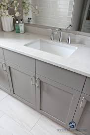 Porcelain Bathroom Vanity Our Bathroom Remodel Greige Subway Tile And More Porcelain
