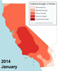 california drought map january 2016 exceptional drought improves only 2 percent after california