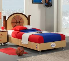 Basketball Bedroom Furniture by Dreamfurniture Com Nba Basketball Los Angeles Clippers Twin Bed