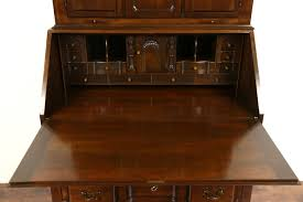 sold maddox signed cherry blockfront secretary desk u0026 bookcase