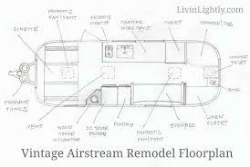 vintage airstream design plans livin u0027 lightly