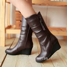 womens wedge boots size 12 fashion winter boots shoes wedges mid calf boots