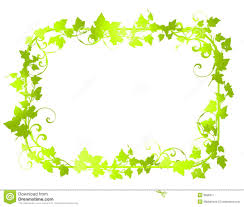 White Flag With Green Leaves Green Leaf Border Clipart Clipground
