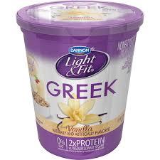 dannon light and fit nutrition dannon light fit greek greek vanilla nonfat yogurt from giant food