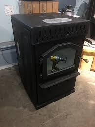 magnum baby countryside corn or wood pellet stove 32k btus for