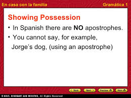 possessive adjectives short and long