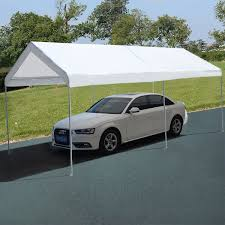 Outdoor Carport Canopy by 10 X 20 Steel Frame Portable Car Canopy Shelter Canopies