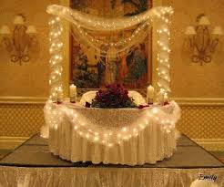 wedding reception table wedding cake table with lights