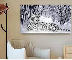 home decor online sales white tiger landscape print canvas painting home decor canvas wall