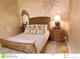 chambre en osier chambre à coucher tropicale de rotin image stock image du créateur