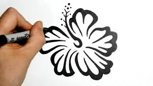 polynesian tribal flower tattoos how to draw an hawaiian flower