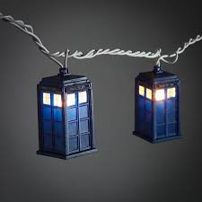 usb office fairy lights doctor who tardis string lights thinkgeek