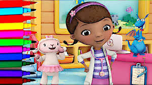 disney junior doc mcstuffins time for check up coloring book pages