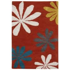 Hibiscus Rug Machine Washable Area Rug Wayfair