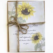 sunflower wedding invitations sunflower wedding invitations